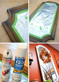 how to spray paint a mirror frame painted mirrors spray painting and sprays
