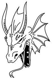 эскиз дракон подборка трафаретов батик и я