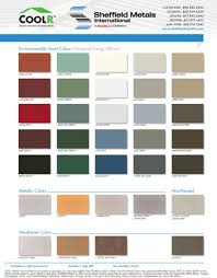 Color Charts Custom Sheet Metal Specialty Construction