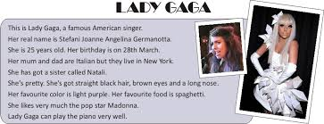 english exercises describing famous people