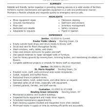 Custodian Resume Stunning 7112 Janitorial Resume Sample Custodian Resumes Best Solutions Of Janitor