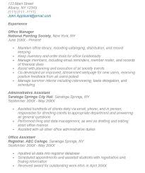 Administrative Duties Resumes 19 Free Office Administrator Resume Samples Sample Resumes