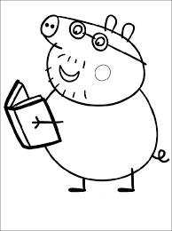 Small Picture Daddy Pig Coloring Page Pages Stuff to Buy Pinterest