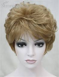 Strongbeauty Fake Synthetic Hair Lady Short