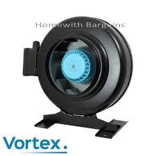 fan extractor. vortex pro metal in-line extractor fan air odour control 4\
