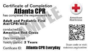 atlanta cpr training certification