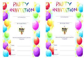 Free Birthday Invitation Templates Photo Party With