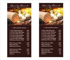Spa Menu Templates Free Documents Download Premium Massage Website