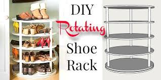 lazy susan shoe rack plans 2 diy rotating