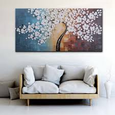 blooming life extra large white flowers artwork hand painted floral oil painting on canvas wall art on white floral canvas wall art with blooming life extra large white flowers artwork hand painted floral