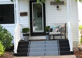 painted concrete stairs