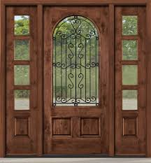 wrought iron is between clear glass sw 79a with 4 lite sidelights