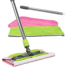linkyo microfiber hardwood floor mop 3 reusable flat mop pads and extension included for wet or dry floor cleaning
