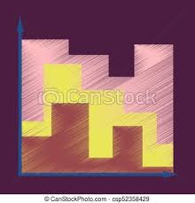 Flat Shading Style Icon 3d Chart