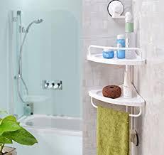 Plastic Corner Shower Shelves Shower Caddy Wall Mounted Bathroom Corner Shelf Plastic Suction 72