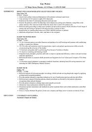 Tech Resume Samples Sleep Tech Resume Samples Velvet Jobs 12