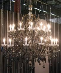 suspension old fashioned 24 lumières 140 cm Ø cristal 30 p