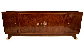 Classic French Art Deco Long Mahogany Buffet - Art Deco Credenzas - Dering  Hall