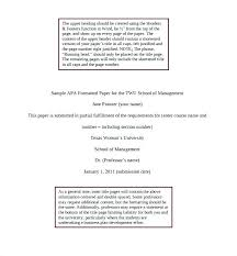 Sample Essay Apa Format Sample Essay Style Research Papers Example