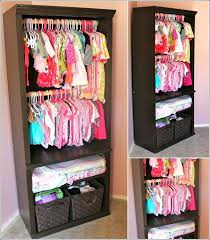 closet for baby clothes organizing the closet easy