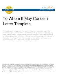 13 Best Images Of To Whom It May Concern Letter Format Template