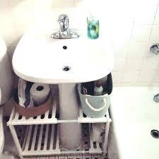 bathroom sink storage bathroom sink organizer under pedestal sink storage under pedestal under bathroom sink storage