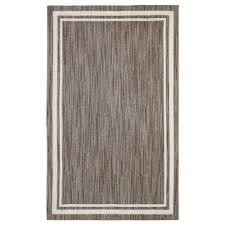 this review is from border loop taupe cream 8 ft x 10 ft area rug