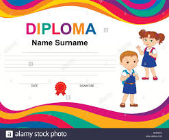 Kids Certificate Border Diploma Border Stock Photos Diploma Border Stock Images