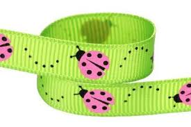 "Hip Girl Boutique 5yd 3/8"" Ladybug <b>Ribbon</b>-<b>Grosgrain</b> --<b>Apple</b> ..."
