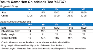 Yst371 Sport Tek Youth Camohex Colorblock T Shirt Rbn