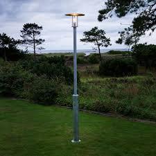 konstsmide raw lamp post galvanised