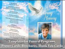 How To Make A Funeral Program Great Video On How To Create Your Own Funeral Programs By