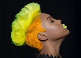 hair face yellow