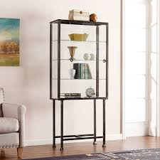 Metal Glass Display Cabinet Trent Austin Design Blazyk Curio Cabinet Reviews Wayfair