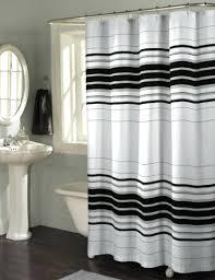 Shower Curtains Black Stripe Shower Curtain Design Black Black And ...