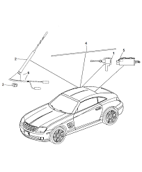 2006 chrysler crossfire antenna related parts diagram i2116520