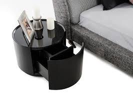 modrest orca modern drawer round dark oak glass top nightstand dsc nightstands bedroom west elm table