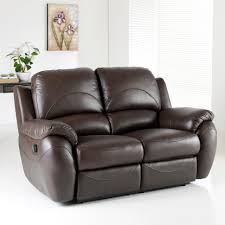 Two Seater Sofa Living Room Recliner Sofa Caesar One Seater Recliner Sofa In Brown Colour By
