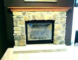 stone gas fireplace faux corner mantle full size of fireplaces pictures