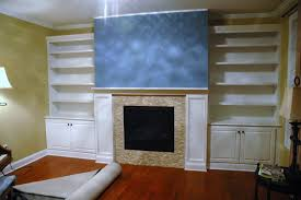 fascinating built in bookshelves and cabinets living room built in wall units white
