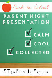 17 best ideas about parent night parent involvement parent night presentation tips for calm cool and collected public speaking