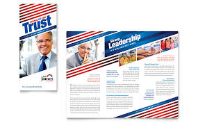 Political Event Flyer Political Campaign Tri Fold Brochure Template Word Publisher