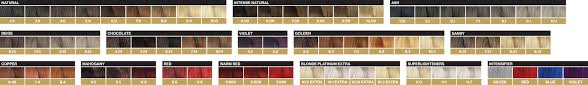 Hair Colour Level Chart Oro Therapy Colours Fanola