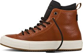 details about converse chuck taylor all star brown leather high top sneakers sz w 8 m 6 120