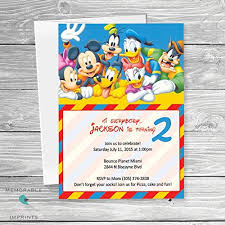 mickey mouse party invitation mickey mouse clubhouse invitation magdalene project org
