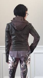 this is a mixed leather jacket because of the side soft stretch panels which makes it very comfortable to wear best thing it has a removable hood