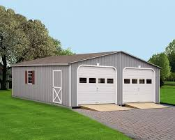 painted double garages