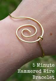 simple wire jewelry 5 minute bracelet