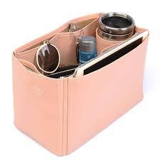 celine tze large deluxe leather handbag organizer in blush pink color