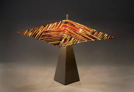 custom made fused glass lampshade